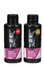 Feline Flax Seed Oil : Crab or Liver flavour