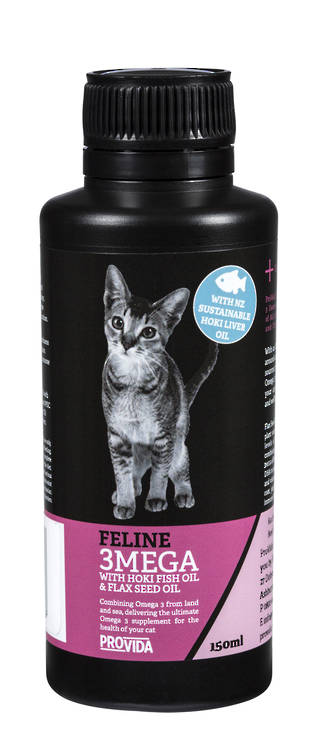 Feline 3MEGA with Hoki Fish Oil & Flax Seed Oil